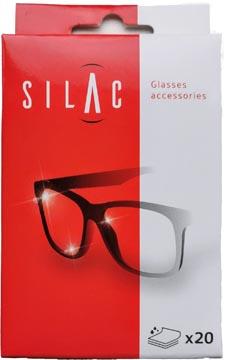 SILAC poetsdoekjes voor brillen, doosje van 20 stuks