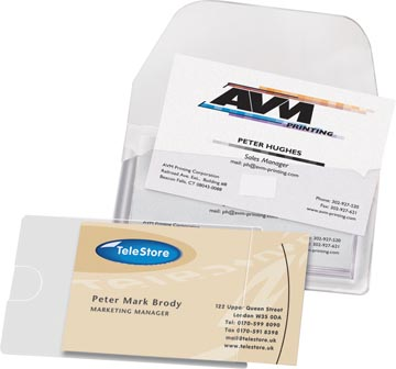 3L Business Card Pocket ft 95 x 60 mm, open aan de lange zijde (etui van 10 stuks)
