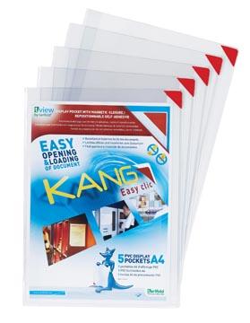 Tarifold tas Kang Easy Clic hoeken in rood