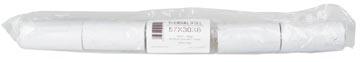 Thermorol BPA-vrij, ft 57 mm, diameter +- 30 mm, asgat 8 mm, lengte 10 meter