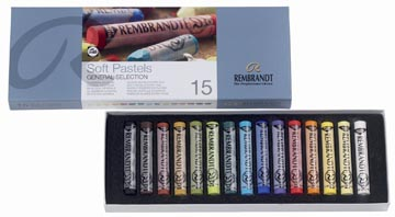 Rembrandt softpastels, doos met 15 pastels