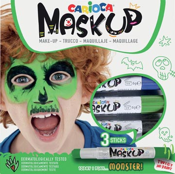 Carioca maquillagestiften Mask Up Monster, doos met 3 stiften
