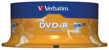 Verbatim DVD recordable DVD-R, spindel van 25 stuks