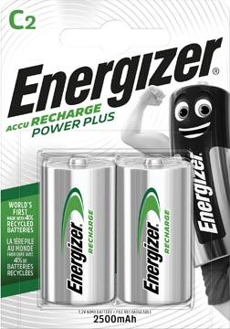 Energizer herlaadbare batterijen Power Plus C, blister van 2 stuks