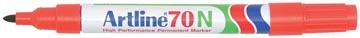 Permanent marker Artline 70 rood