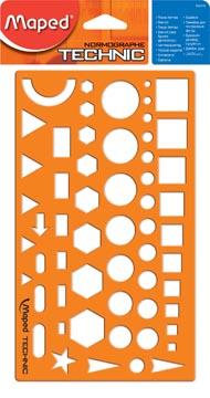 Maped sjabloon diverse figuren, op blister