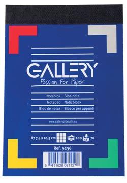 Gallery notitieblok, ft A7, geruit 5 mm, blok van 100 vel
