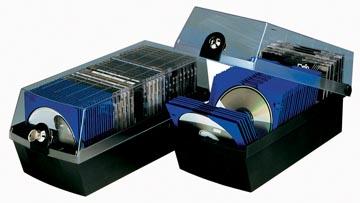 Han CD of DVD-opbergdoos Mäx, zwart