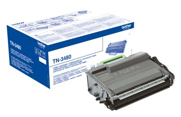 Brother toner, 8.000 pagina's, OEM TN-3480, zwart