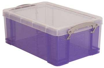 Really Useful Box opbergdoos 9 liter, transparant paars