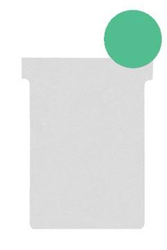Nobo T-planbordkaarten index 2, ft 85 x 60 mm, groen