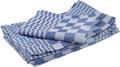 Handdoek, ft 65 x 65 cm, blauw/wit, pak van 6 stuks