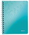 Leitz WOW schrift ft A4, geruit 5 mm, ijsblauw