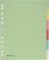 Pergamy tabbladen ft A4 maxi, 11-gaatsperforatie, karton, geassorteerde pastelkleuren, 6 tabs
