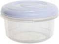 Whitefurze vershouddoos rond 0,25 liter, transparant met wit deksel